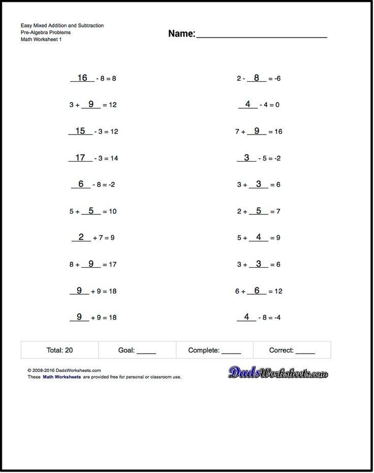 free printable math worksheets for pre algebra problems with answer key math worksheets free. Black Bedroom Furniture Sets. Home Design Ideas