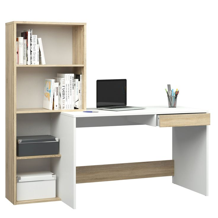 Tvilum Whitney Transitional Desk with Hutch - White - 8015849AK