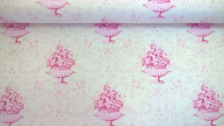 Stoff Blumen - Tilda Quilt Collection Venice pink - ein Designerstück von Stoffe-guenstig-kaufen bei DaWanda