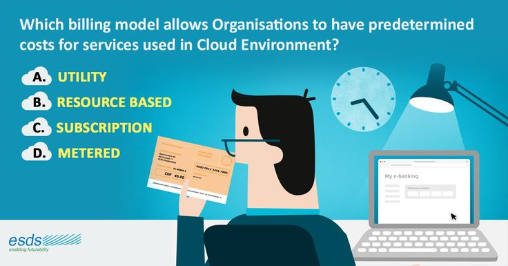 Which #billing model allows #Organisations to have a predetermined costs for services used in #Cloud Environment? A. Utility B. Resource based C. Subscription D. Metered
