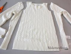 Re-purposing: Sweater to Sweater Dress! Wait til you see how cute it turns out!