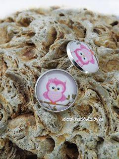 Ellys Shop: Cercei imagine bufnita roz