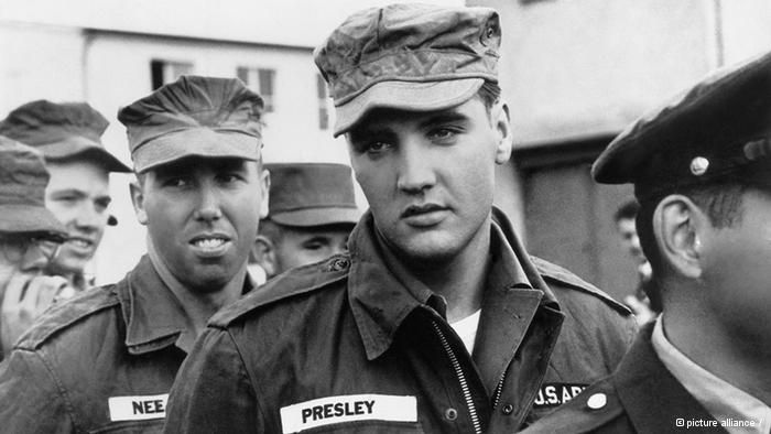 Elvis Presley during his service in the U.S. Army