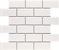 Peel and Stick Subway Glass Mosaic Tile White