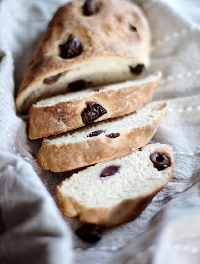 Pane alle olive, a delicious bread traditional to Puglia, Italy