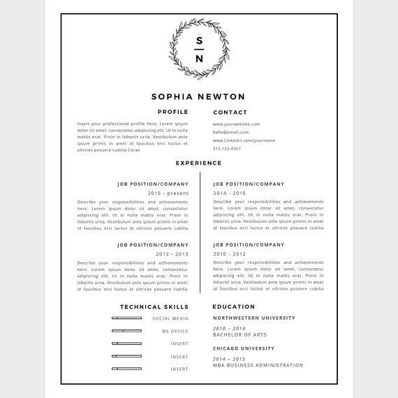 Resume Template For Word 2010 77 Best Cv Images On Pinterest  Resume Templates Cv Template And