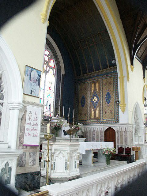 St. Mary's Church, Castleblayney. Do you know the legend of how this church got its  site?