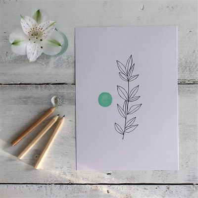 Gorgeous Myrtle print by mi+ed design for Mimosa Street.  Screen printed onto beautiful recycled paper that's made in Italy and contains seaweed from Venice.