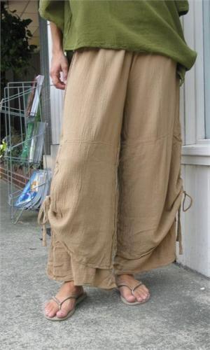 Oh My Gauze Cotton Lagenlook Porto Layer Pants OSFM M L XL 1x U chz Color | eBay