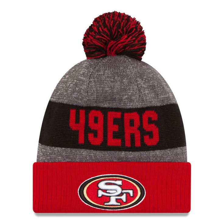 San Francisco 49ers New Era Sideline Official Sport Knit Hat - Heather Gray