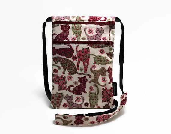 SOLD OUT - Passport Holder Fabric travel pouch Security Neck by KapomCrafts