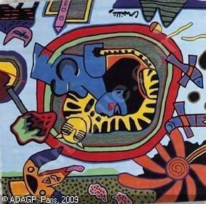 CORNEILLE, BEVERLOO Guillaume Corneille van, *1922 (Netherlands)  Title : Le chat roi