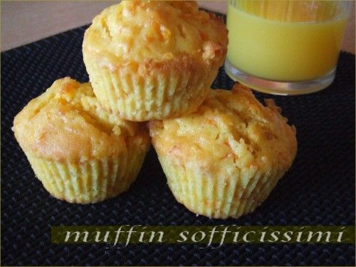 Muffin alla carota soffici soffici