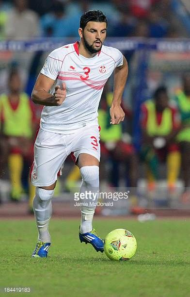 Youssef Siam Ben of Tunisia in action during the FIFA 2014 World Cup qualifier at the Stade Olympique de Radès on October 13 2013 in Rades Tunisia
