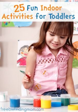 25 Fun Indoor Activities for Toddlers - Keep the kids active, engaged, and having fun with balloon hockey, indoor hopscotch, glitter slime a...