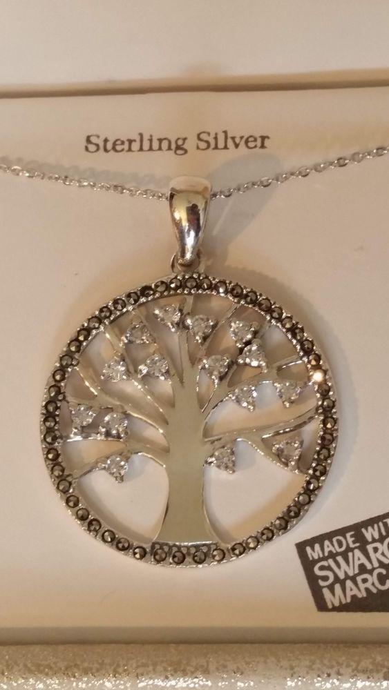 501bdad61c82b Sterling Silver 925 Swarovski Tree of Life Ladies Pendant Necklace ...