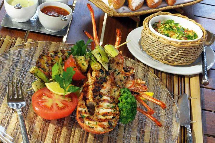 Gourmet cuisine at Dinarobin Mauritius.