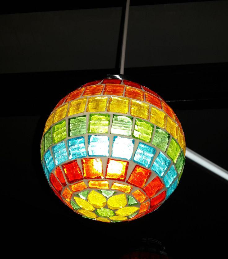 Luminaria con venecitas vitro