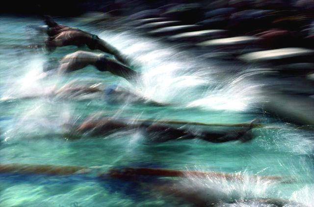 Swimmers, Olympics, Los Angeles, 1984, Ernst Haas