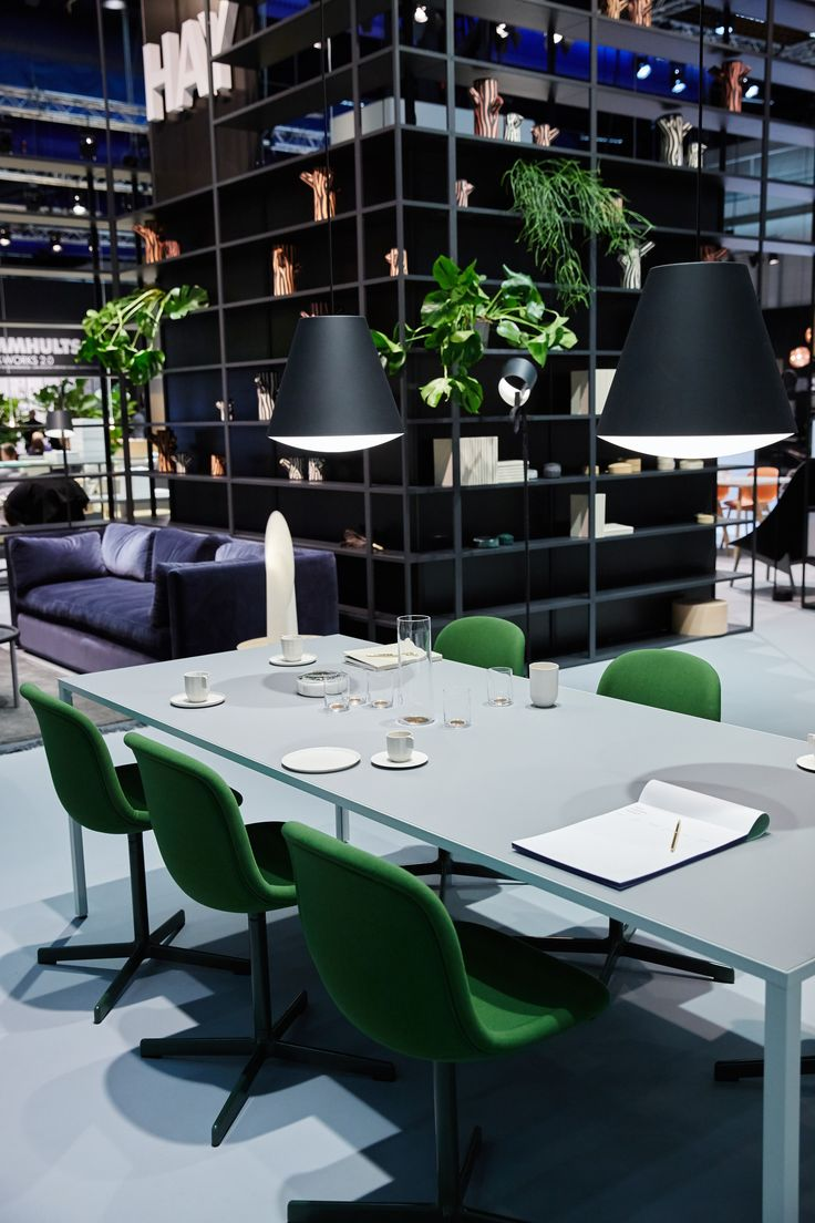 Neu10 Chair by Wrong for Hay, Sinker Light by Wrong for Hay, New Order Table by Stefan Diez for HAY