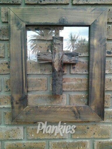 Woode framed cross