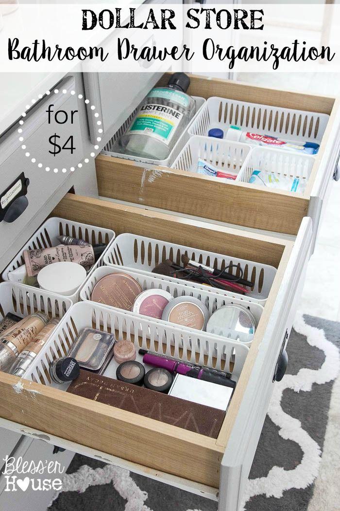 Dollar Store Bathroom Drawer Organization Bathroom Drawer