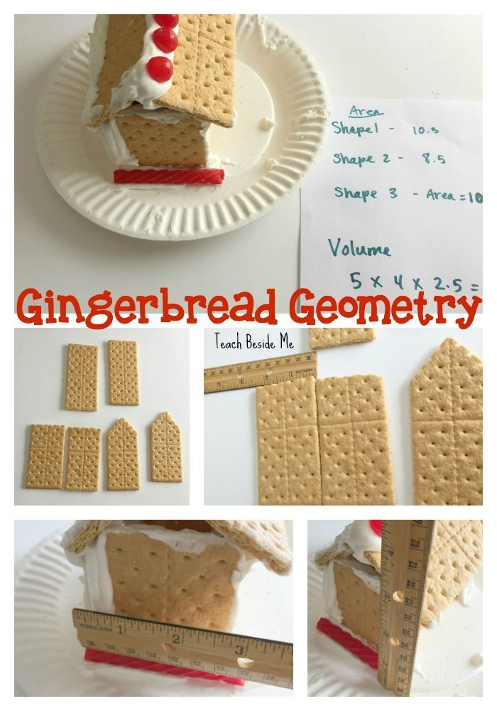 Edible STEM- Gingerbread House Geometry project! Measure Area, Perimeter & Volume of your Gingerbread houses!  via @karyntripp