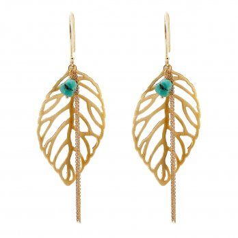 Ananda Make a Wish Earrings . 22kt Gold Vermeil . Turquoise