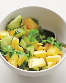 Broiled Chicken Thighs with Pineapple-Cucumber Salad ...
