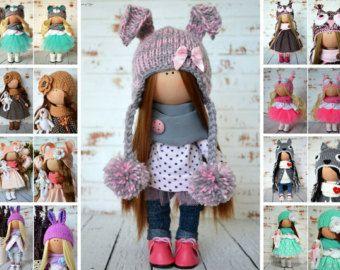 Fabric doll Interior doll Baby doll Art doll door AnnKirillartPlace