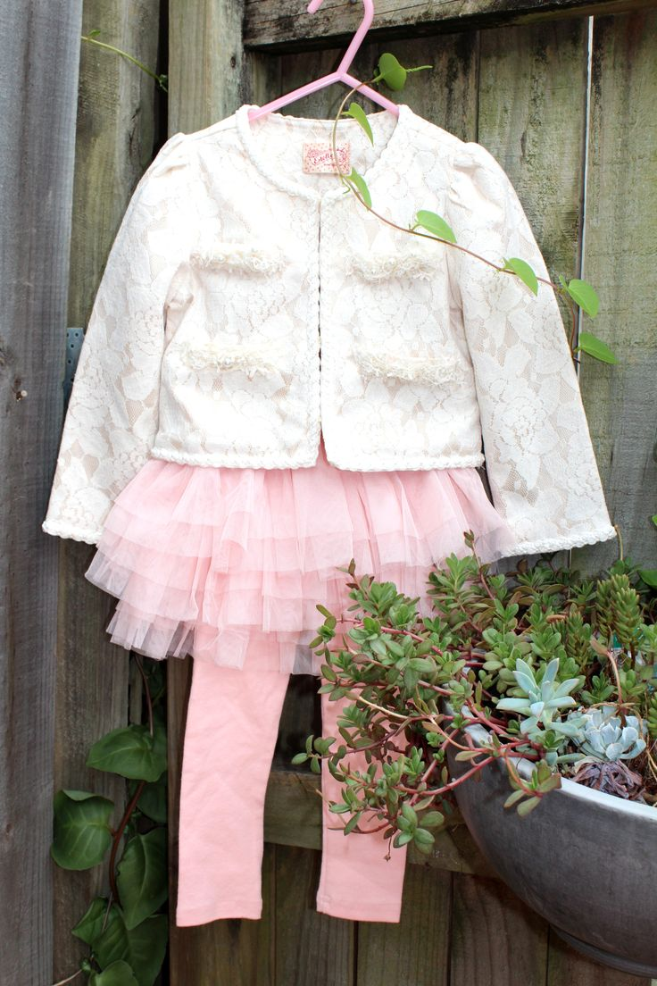 Lovely lace jacket with Tutu skirt leggings.