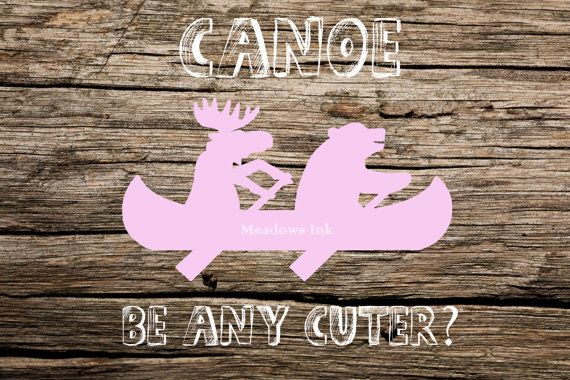 Pink Canoe Bear & Moose Nursery Print printable wall by MeadowsInk