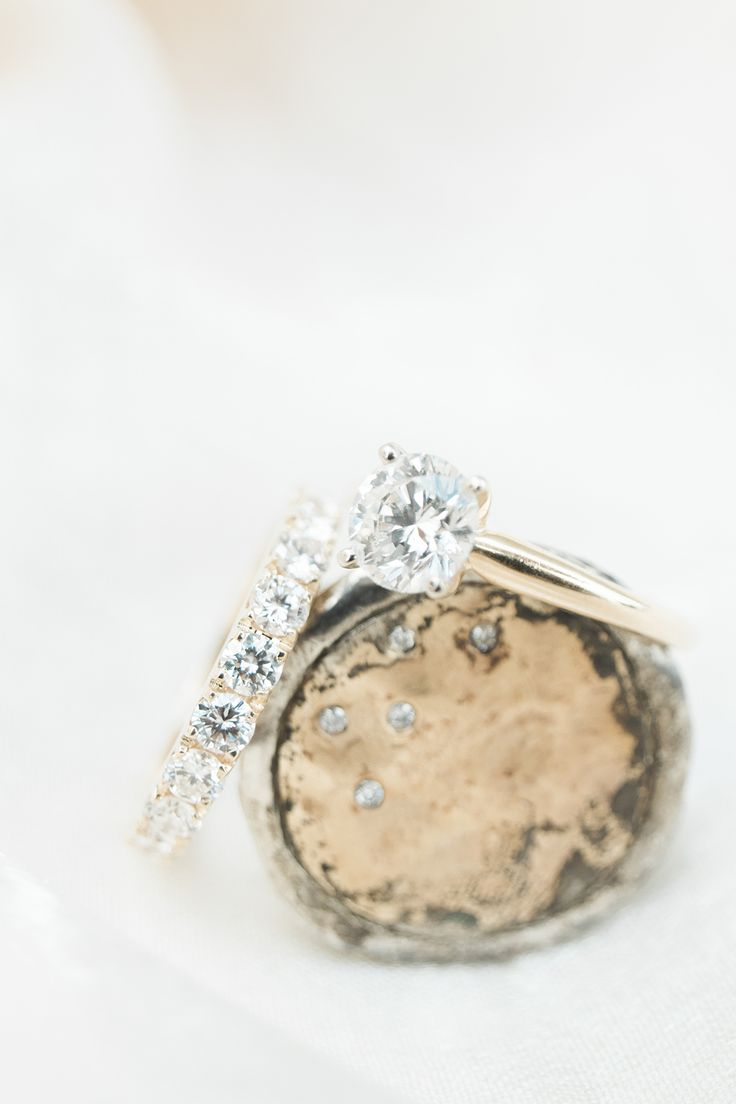 vintage wedding ring and wedding bands