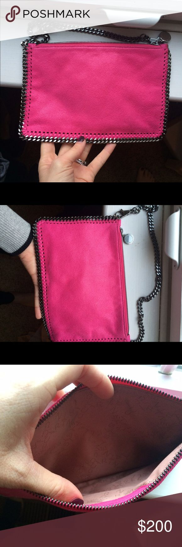 Stella McCartney purse Amazing hot pink stella McCartney purse. This can be used as a clutch or under the arm bag. In great condition with box it came in. From Saks about a year ago. Feel free to put a offer in! Stella McCartney Bags Shoulder Bags
