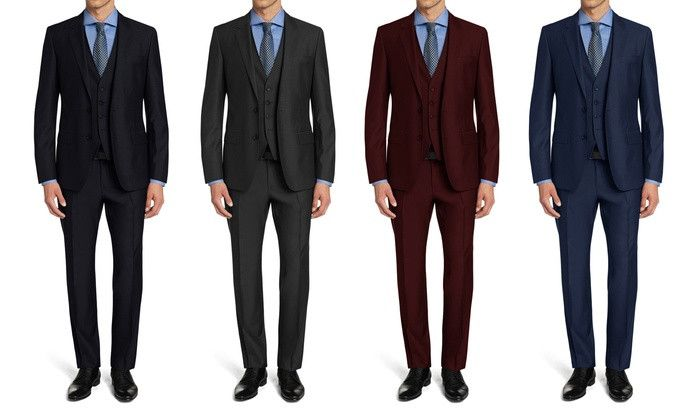 Braveman Men's Slim Fit Suits (3-Piece)