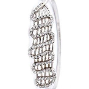Zirkon taşlı,925 ayar gümüş bayan kelepçe