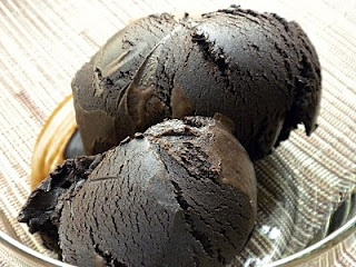 Chocolate sorbet - pure, unadulterated chocolate flavor in frozen form.