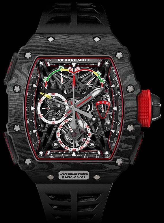 La Cote des Montres : La montre Richard Mille RM 50-03 McLaren-F1 - Le tourbillon chronographe à rattrapante le plus léger au monde