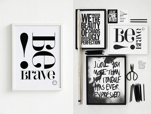 graphic black and white prints by Swedish designer Therese Sennerholt