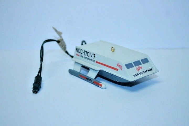Hallmark Magic ornament Shuttlecraft Galieo Starship Enterprise dated 1992