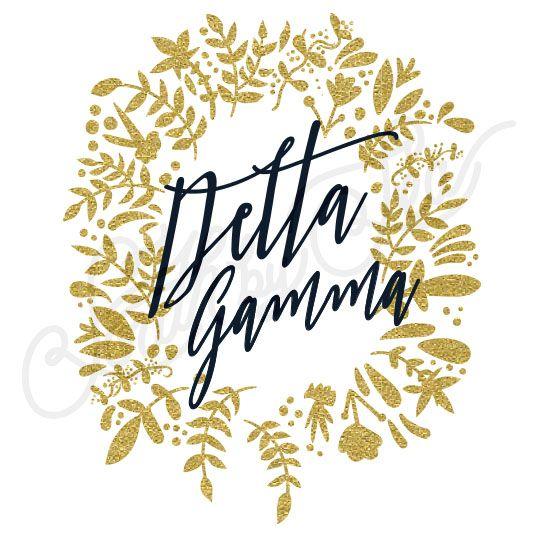 Sorority Recruitment Delta Gamma Floral Border Wreath South By Sea