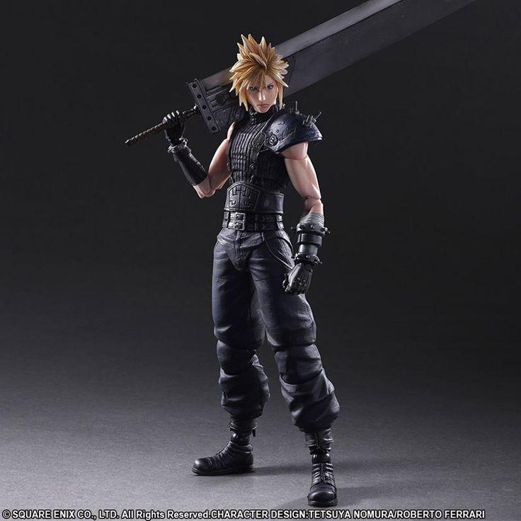 Play Arts Kai Final Fantasy VII Remake - Cloud Strife #PVC #Figure