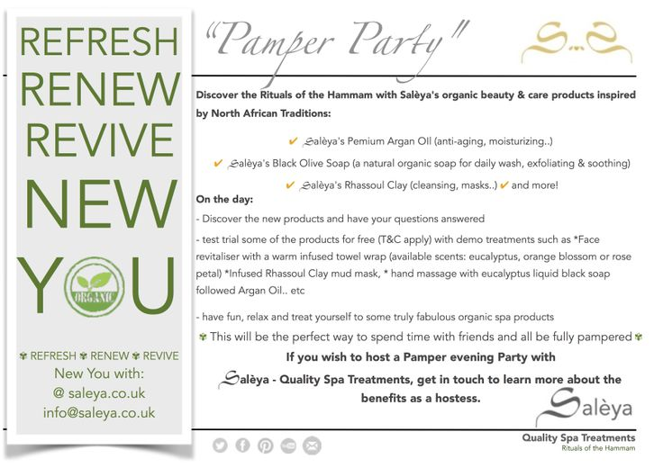 Host an Oriental Pamper Party + #free demo treatments, get in touch 2 learn + about the hostess benefits