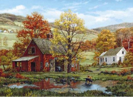 "Friends in Autumn - 1,000 Piece Puzzle -  Finished Size: 24""x30"" - Plus Free Gift Book - Just $15.99!"