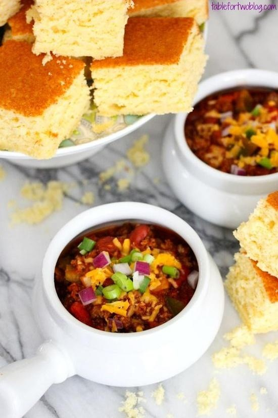 {Crockpot} Chili Cornbread- delish! my favorite so far.