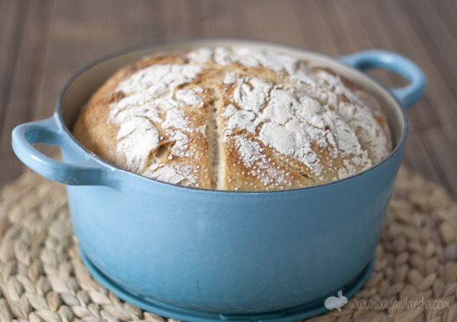Home made bread in cocotte