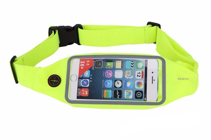 Поясная сумка для бега Rock Universal Running Belt для телефонов до 6 дюймов зеленая (RMRBUG)