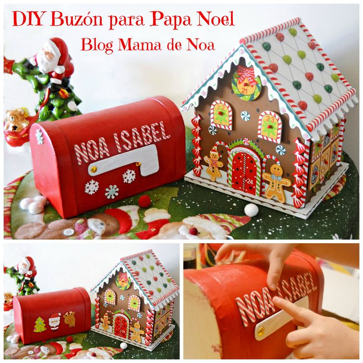 Tutorial para hacer un Buzón mágico y enviar cartas a Papa Noel desde nuestra casa. DIY to make a Mail Box to send letters to Santa Claus from our home -> http://mamadenoa.blogspot.com.es/2014/12/diy-buzon-de-papa-noel.html