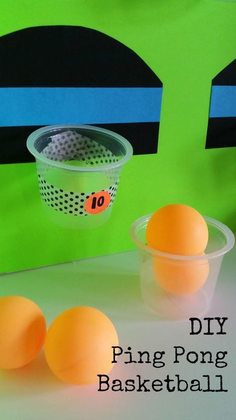 Fun indoor games (for when its HOT outside!). DIY Ping Pong Basketball Game.