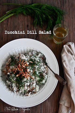 BBQ'd Zucchini, pearl barley and whipped feta salad